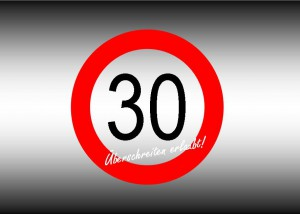 Aufkleber tempo 30